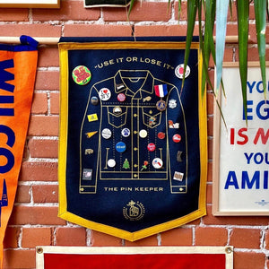 Pin Keepers - Denim Jacket Camp Flag • Pretty Useful Co. Original