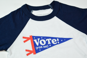 Vote For Me Toddler Baseball Tee • Kelle Hampton x Oxford Pennant
