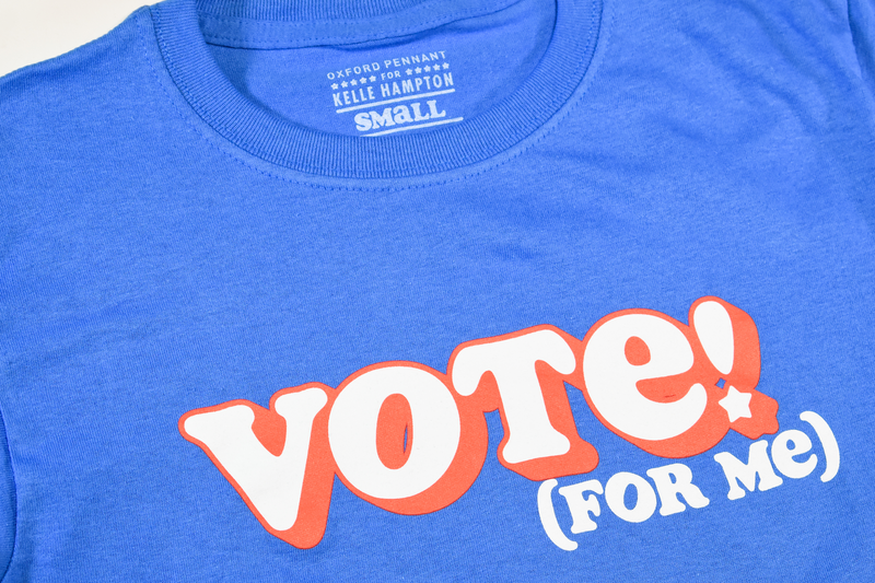 Vote For Me Kids Tee • Kelle Hampton x Oxford Pennant