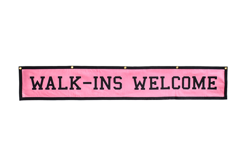 Walk-Ins Welcome Championship Banner