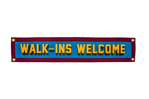 Walk-Ins Welcome Camp Flag