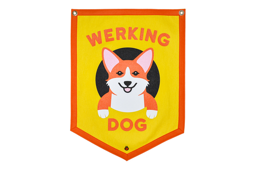 Werking Dog Yellow Camp Flag • Maxine x Oxford Pennant