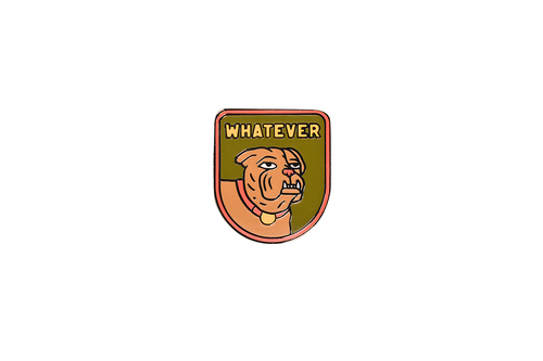 Whatever Enamel Pin