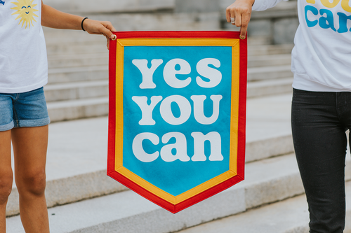 Yes You Can Camp Flag • Kelle Hampton x Oxford Pennant Original