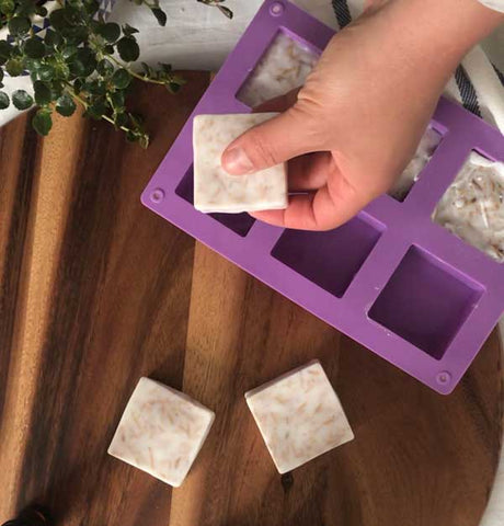diy bar soap from silicone mold