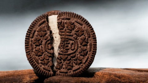 oreo cracked upright biscuit