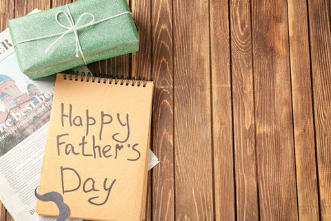 happy fathers day eco friendly wrapping paper