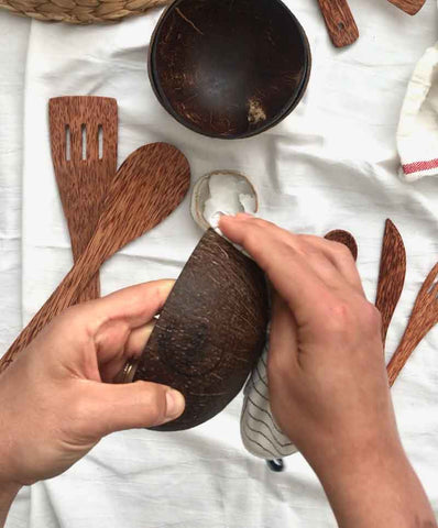 oil your coconut wood bowls