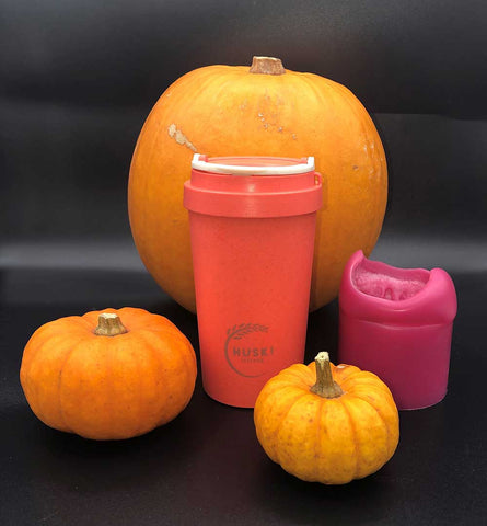 coral pumpkin travel cup
