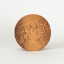 Load image into Gallery viewer, Natural coconut wood round plate