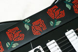 Crystal Roses Guitar Strap by Kantor Guitars
