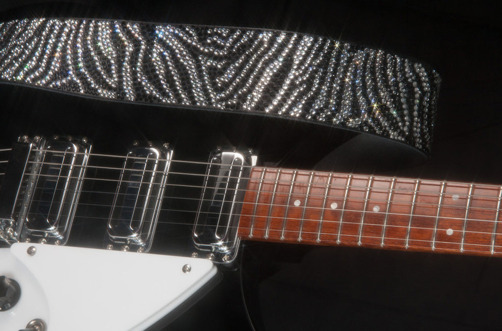 Full Animal Crystal Guitar Strap