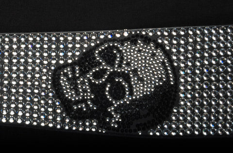 Skulls Full Crystal Guitar Strap