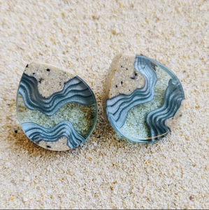 Ridge Stud Earrings
