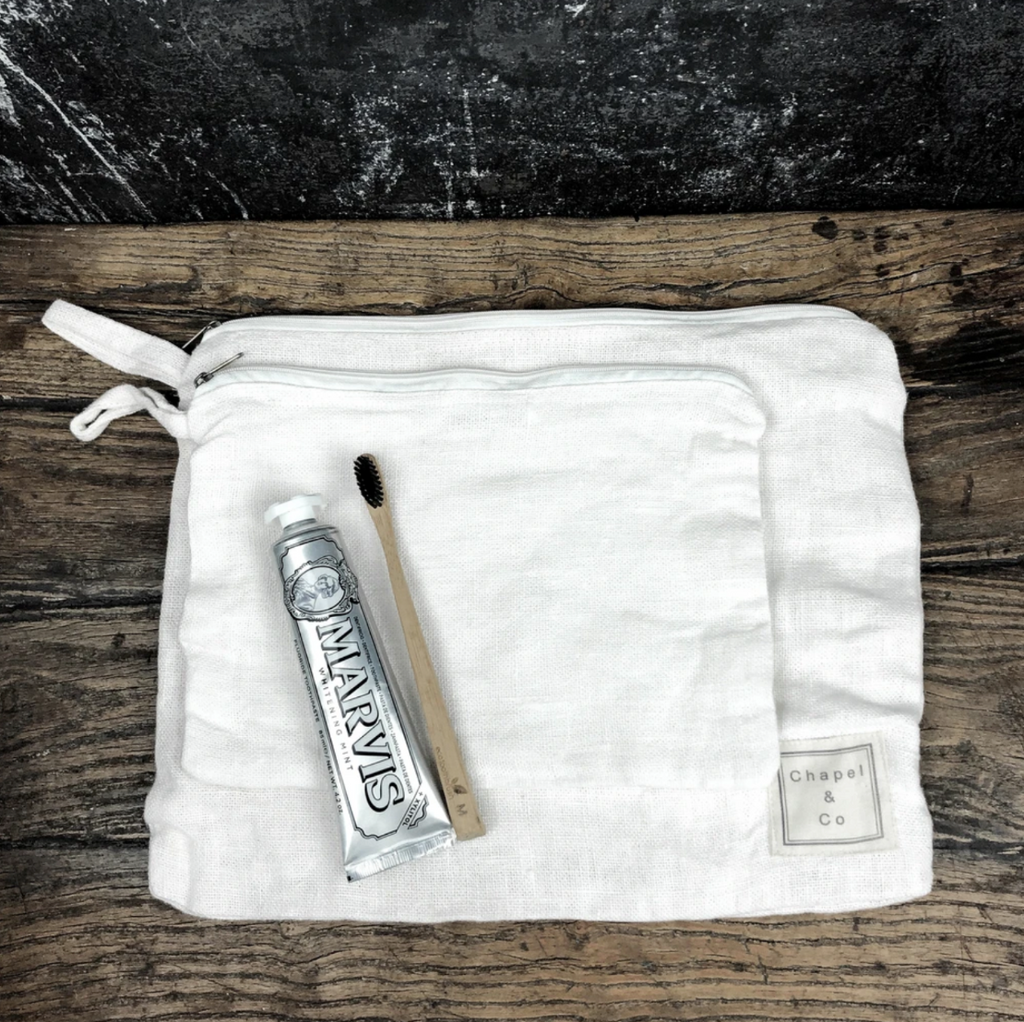 Toiletry Bag Set - White