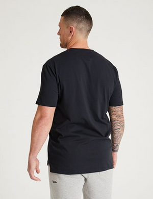 Everyday Split Hem Tee - Black