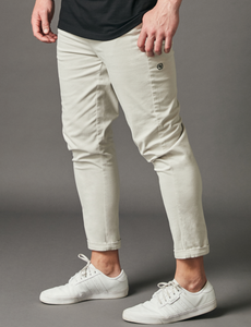 Relaxed Crop Pants - Light Grey