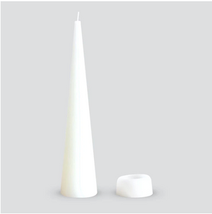 Cone Candle Warm White Large