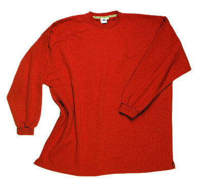 Crewneck sweat shirt without waistband red