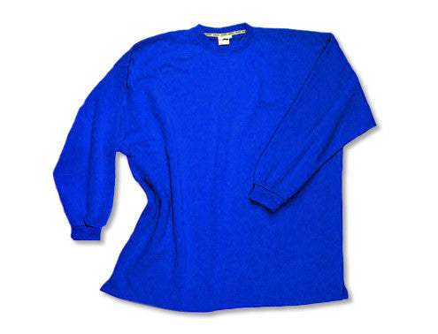 Crewneck sweat shirt without waistband royal blue