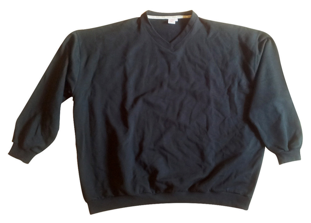 Basic Sweatshirt V-Neck in black