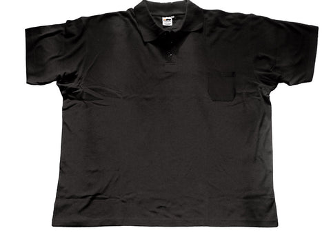 Polo-Shirt black with pocket