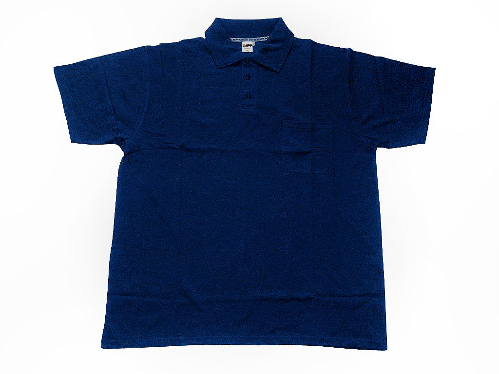 Polo shirt navy blue with pocket