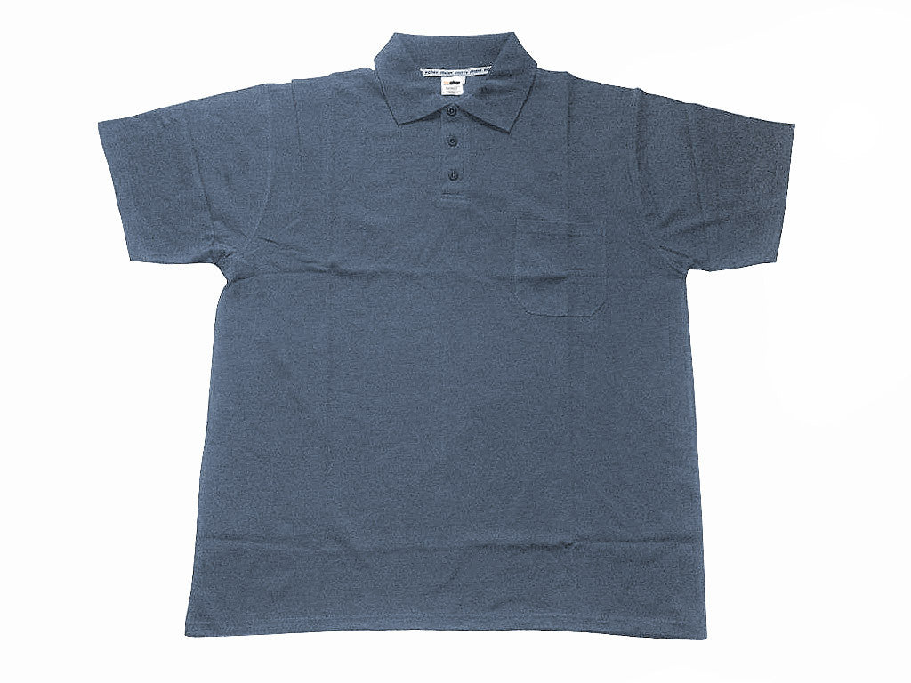 Polo-Shirt steel grey with pocket
