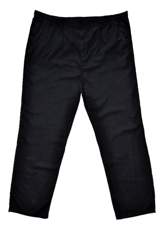 Linen trousers black