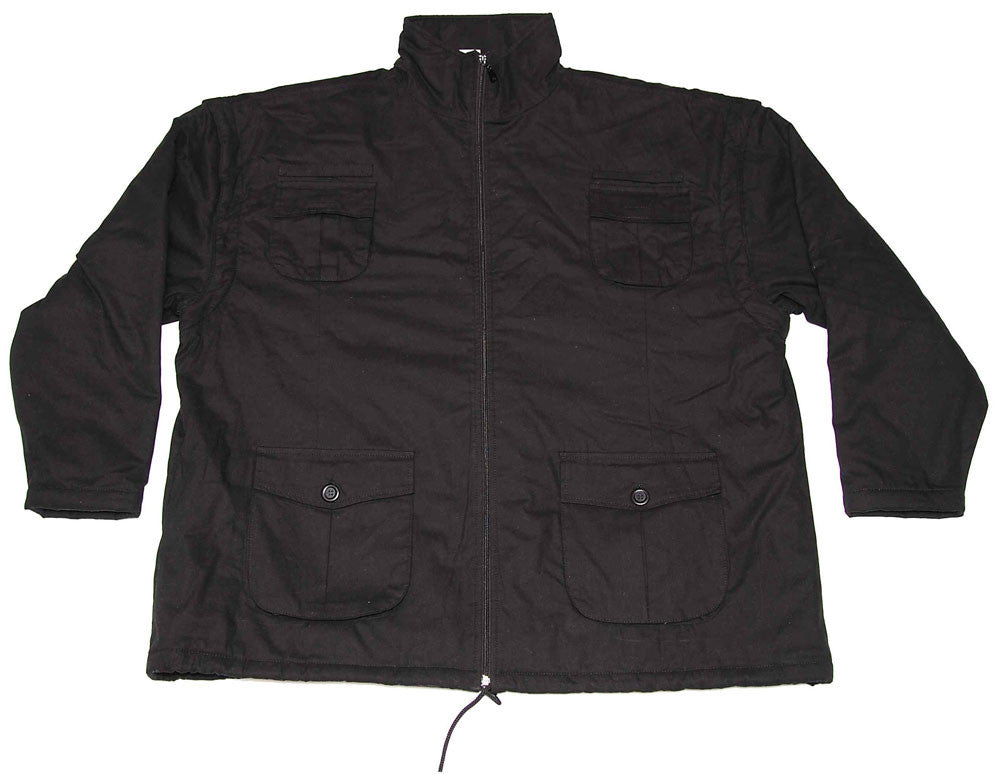 Winter jacket with demountable sleeves