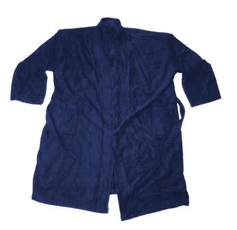 Bathrobe navy blue