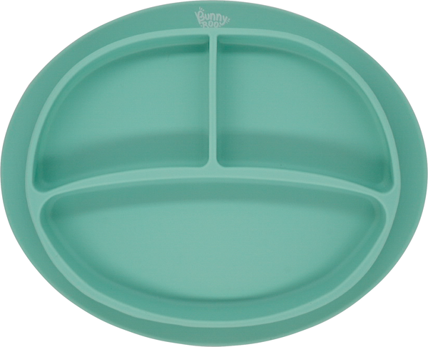 Messmate Silicone Divider Plate - Mint - Bunny Roo