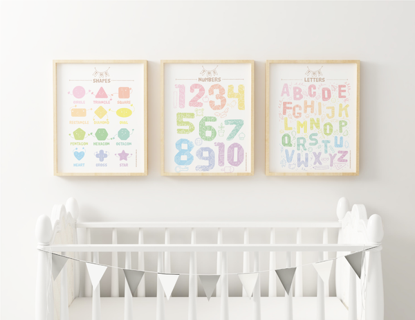 Rainbow Collection Art Print - Set of Three - Bunny Roo