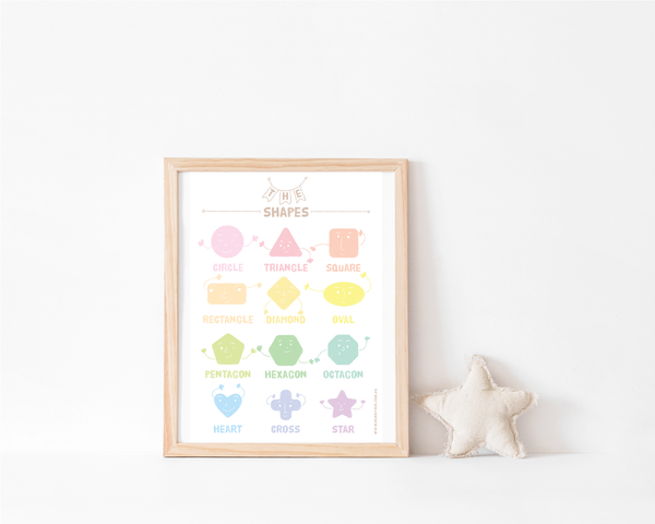 Rainbow Collection Art Print - Shapes - Bunny Roo