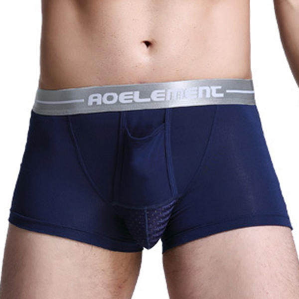 Men's Modal U Convex Separation Physiological Boxers Briefs