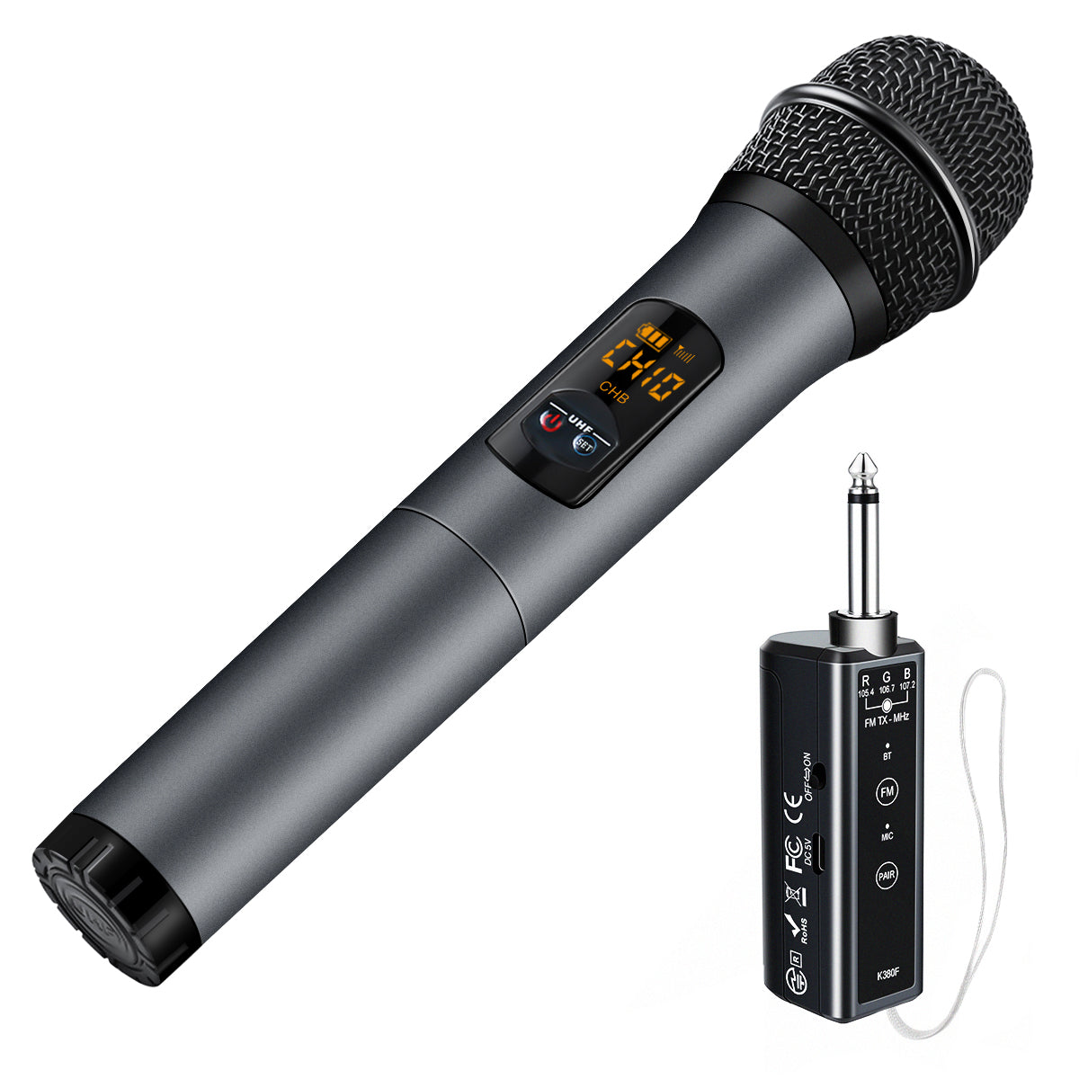 Bluetooth Wireless Microphone Dynamic Handheld Cordless Mic