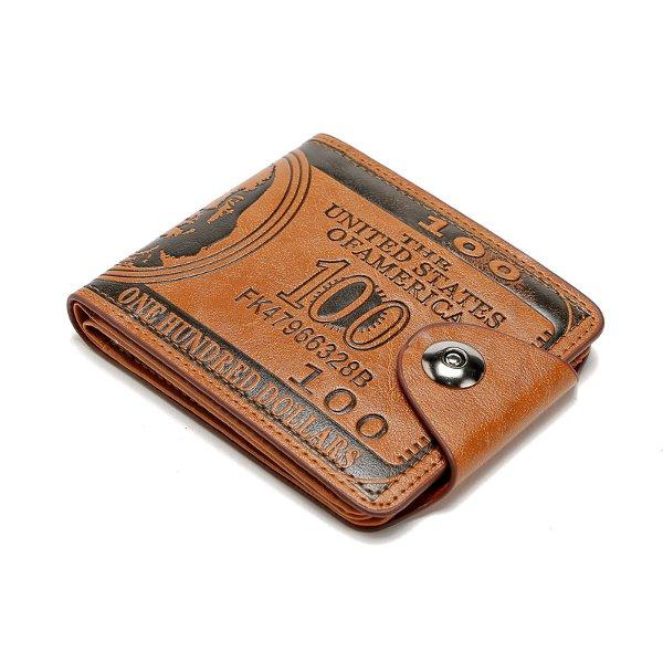 Portable PU Leather Purse Card Holders Wallet For Women Men