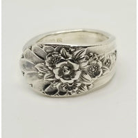 Ring, Spoon ring, rings, Jubilee, floral ring, spoon jewelry, rings for women, Mother's day gift