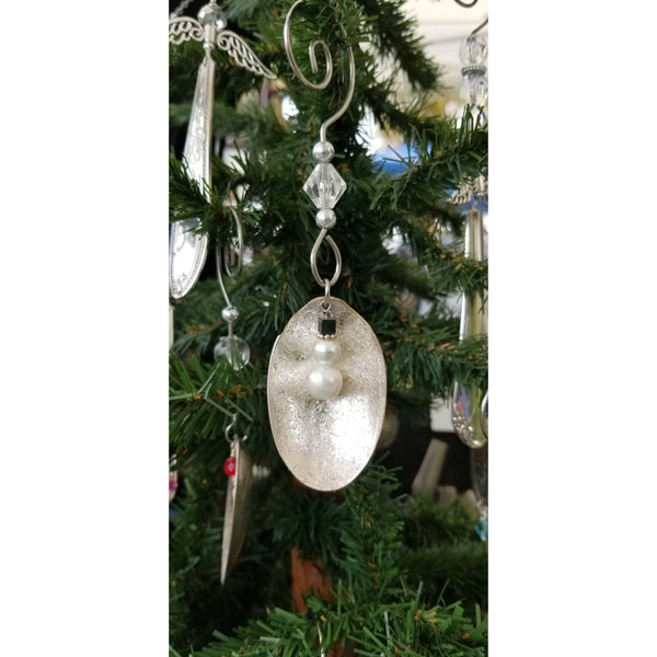 Snowman ornament, upcycled spoon ornament, snowman, christmas tree ornie