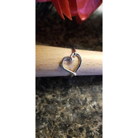 Heart ring, silver