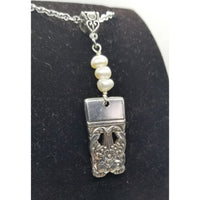 Coronation pendant necklace, pearls
