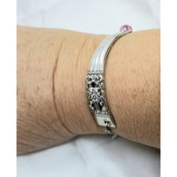 Bracelet adjustable, silverware Coronation