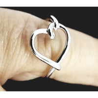 Ring, rings, silver ring, Heart ring, 925 silver, size 5, size 6, rings for women, love ring, Mother's day gift