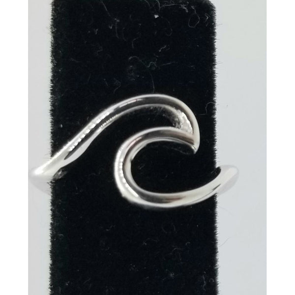 Wave ring,  925 silver