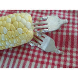 Corn holders (1 pr) sweetcorn utensils,corn on the cob,corn cob utensils,twisted forks,dinner ware,corn skewers,sweet corn tools,corn server