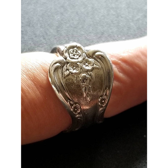Spoon ring, handmade vintage spoon in Magnolia pattern, sizes from 8-10 available, upcycled, vintage silverware