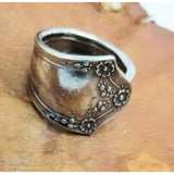 Spoon ring, floral