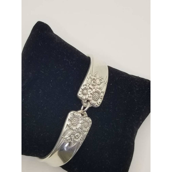 Sunflower silver bracelet