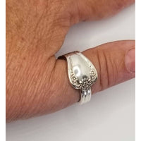 Silver ring vintage spoon