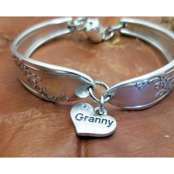 Granny Spoon bracelet in Queen Bess pattern 1930s.   Mother's day, Grandmother, Moms gift, gift for her